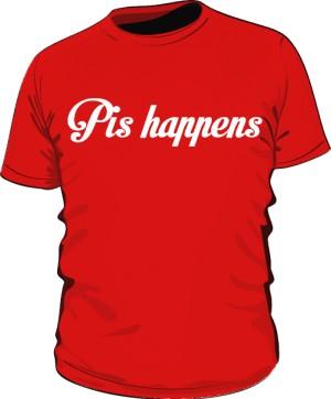 koszulka pis czerwona