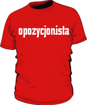 koszulka opozycjonista czerwona