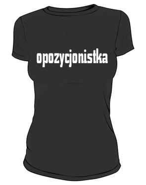 koszulka opozycjonistka czarna