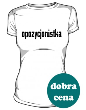 koszulka opozycjonistka biała