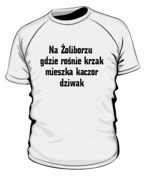 koszulka krzak sportowa