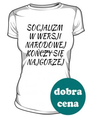 koszulka socjalizm biała
