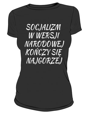 koszulka socjalizm czarna