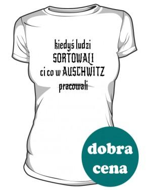 koszulka sortowanie biała