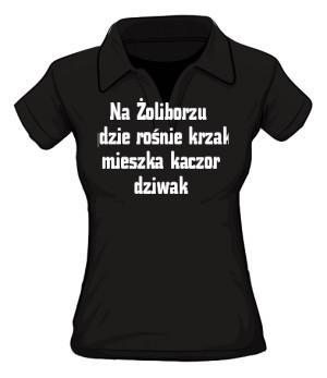 koszulka polo krzak damska