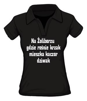 koszulka krzak  polo damska