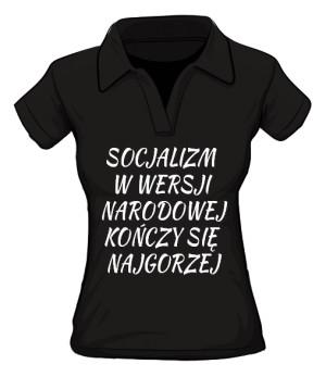 koszulka socjalizm polo damska