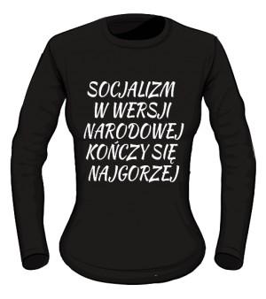 koszulka socjalizm long damska