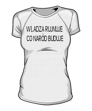 koszulka rujnuje sportowa damska