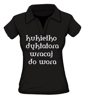 koszulka kukiełka polo damska