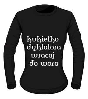 koszulka kukiełka long damska