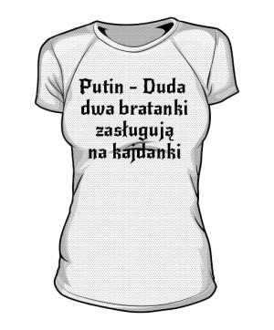koszulka putin sportowa damska