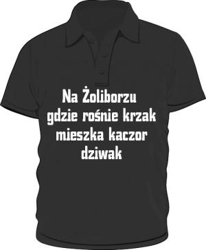 koszulka polo krzak