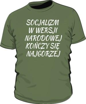 koszulka socjalizm zielona