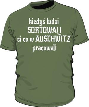 koszulka sortowanie zielona