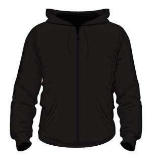 Rozpinana męska bluza czarna