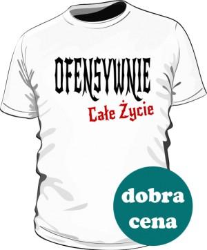 Pół Ofensywna Koszulka Biała