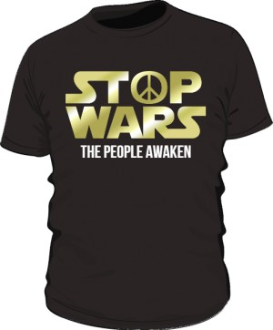Stop Wars GOLD koszulka Czarna męska