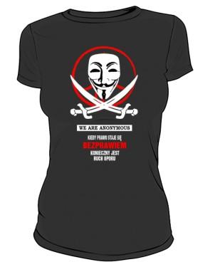 Anonymous  koszulka damska