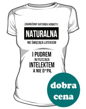 Kobieta Naturalna koszulka damska
