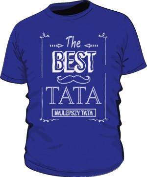 Koszulka Niebieska Best Taty Ramka