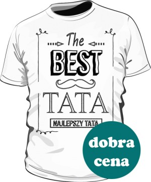Koszulka Biała Best Taty