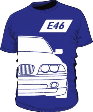 E46 Koszulka Niebieska
