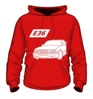 E36 Bluza z kapturem Czerwona