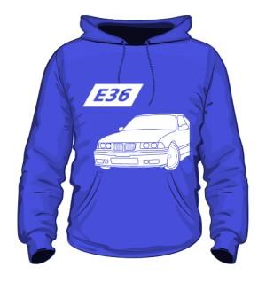 E36 Bluza z kapturem Niebieska