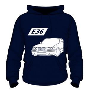 E36 Bluza z kapturem Granatowa