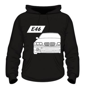 E46 Bluza z Kapturem Czarna