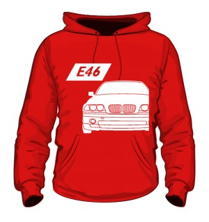 E46 Bluza z Kapturem Czerwona