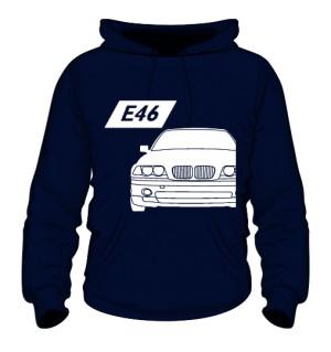 E46 Bluza z Kapturem Granatowa
