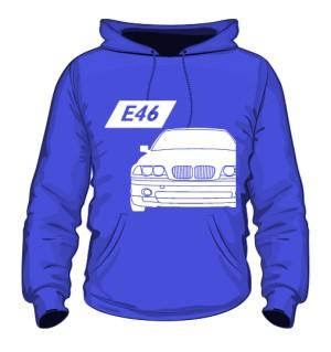 E46 Bluza z Kapturem Niebieska