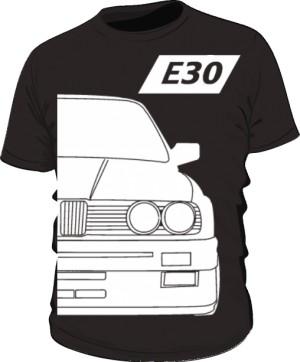E30 Koszulka Czarna