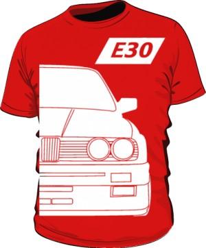 E30 Koszulka Czerwona