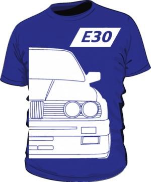 E30 Koszulka Niebieska