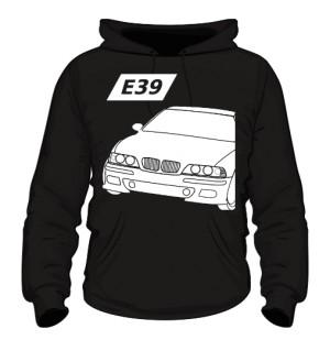 E39 Bluza z Kapturem Czarna