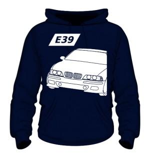 E39 Bluza z Kapturem Granatowa