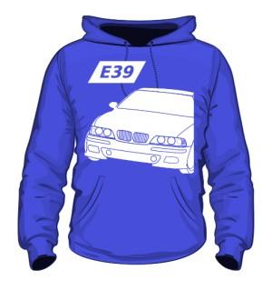 E39 Bluza z Kapturem Niebieska