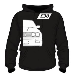 E30 Bluza z Kapturem Czarna