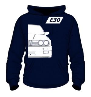 E30 Bluza z Kapturem Granatowa