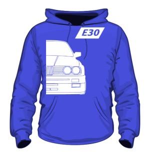 E30 Bluza z Kapturem Niebieska