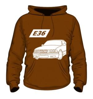 E36 Bluza z Kapturem Brązowa