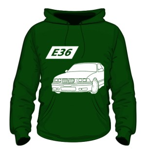 E36 Bluza z Kapturem Zielona