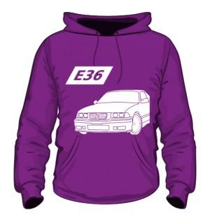 E36 Bluza z Kapturem Fioletowa