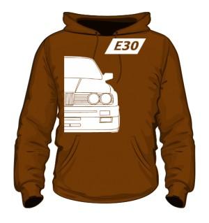 E30 Bluza z Kapturem Brązowa