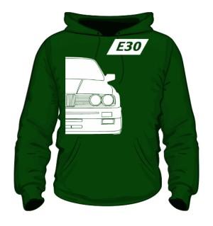 E30 Bluza z Kapturem Zielona