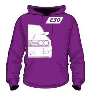 E30 Bluza z Kapturem Fioletowa