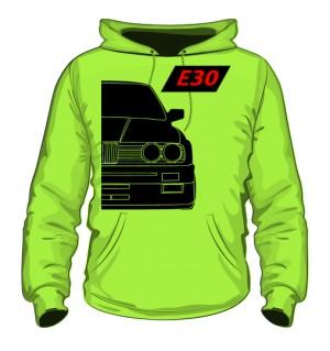 E30 Bluza z Kapturem Jasno Zielona